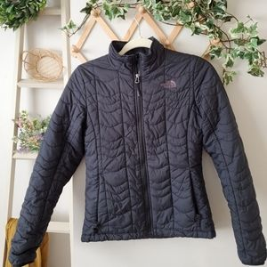 The north face quilted coat womens small BLACK